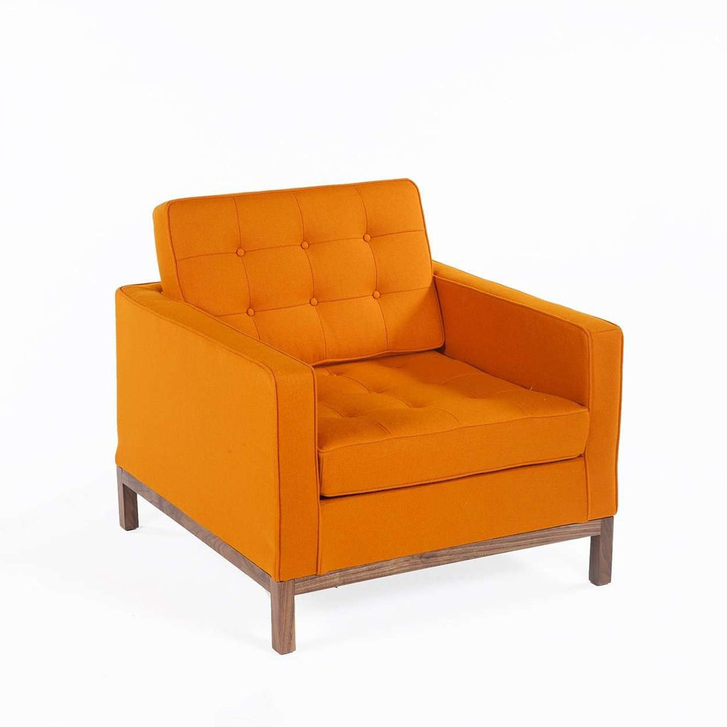Mid-Century Modern Dara Lounge Chair - Orange