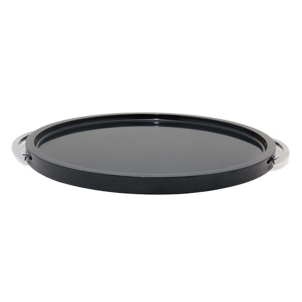 "Jet Black 12"" Marble Place Tray"