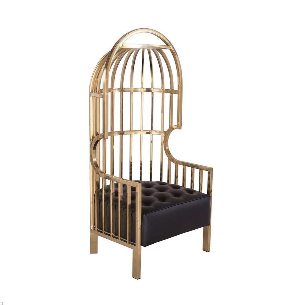 Superb Birdcage Chair   Gold