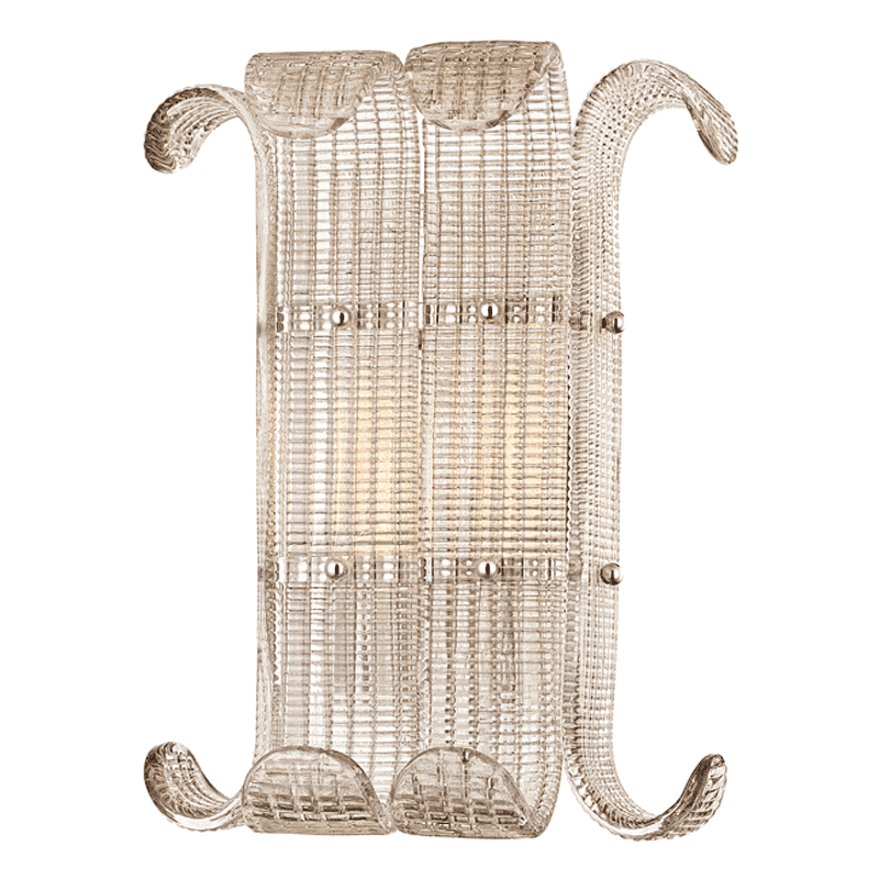 Brasher 2 Light Wall Sconce Polished Nickel