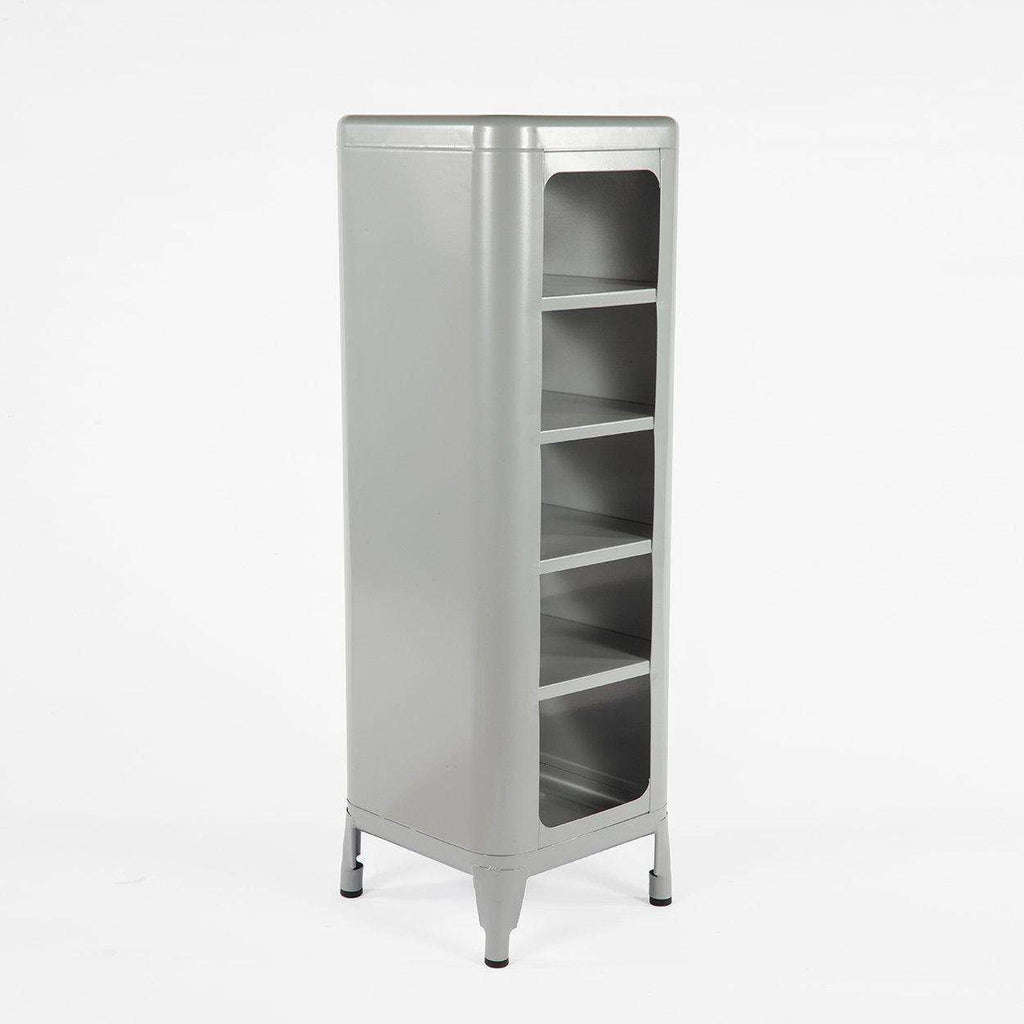 Mid-Century Modern Reproduction Steel Tolix Replica Shelving Unit - Grey Inspired by Frederic Gaunet
