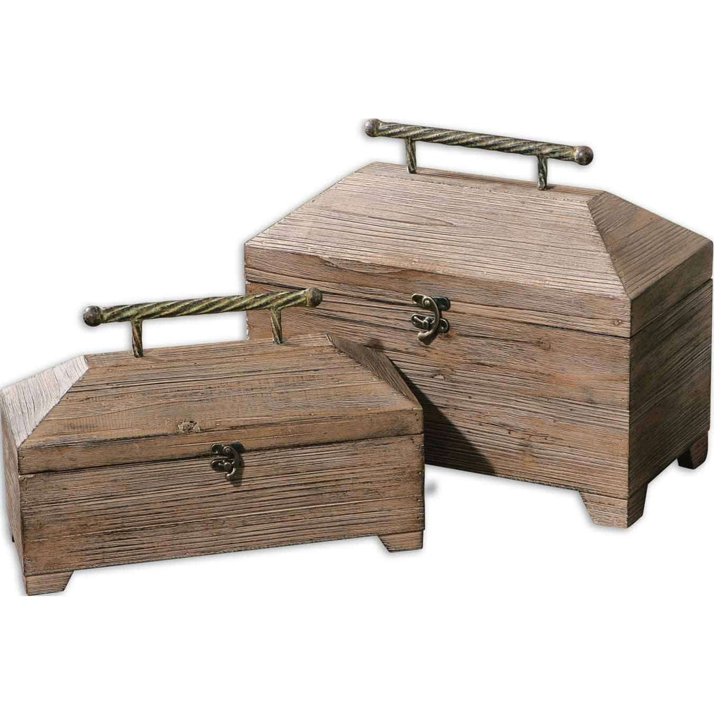 Uttermost Tadao Natural Wood Boxes, Set/2