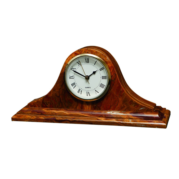Saturn Collection Saffron Brown Onyx Mantle clock