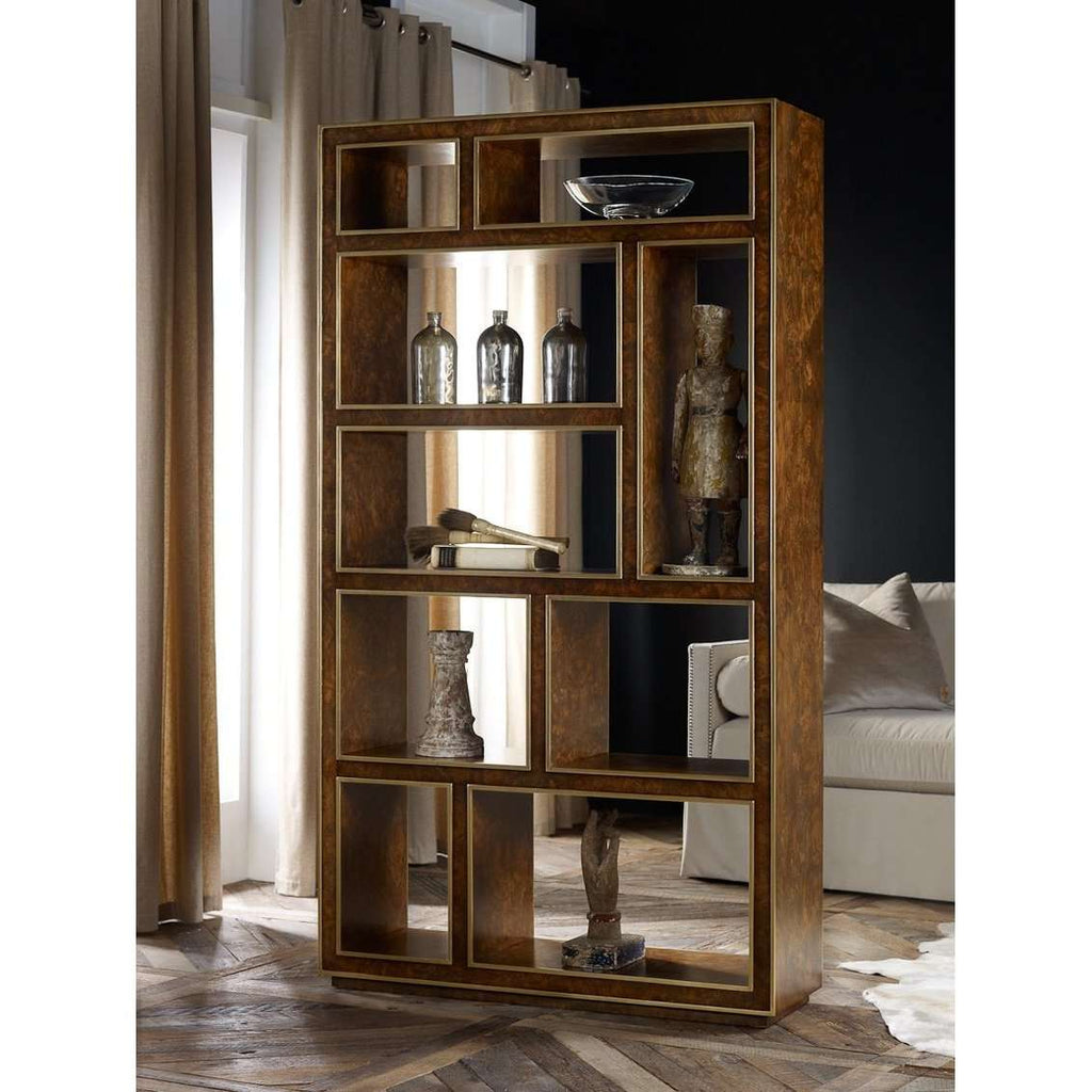 Abstract Vertical Bookcase- Burl