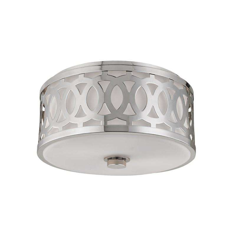 Genesee 2 Light Medium Flush Mount Polished Nickel