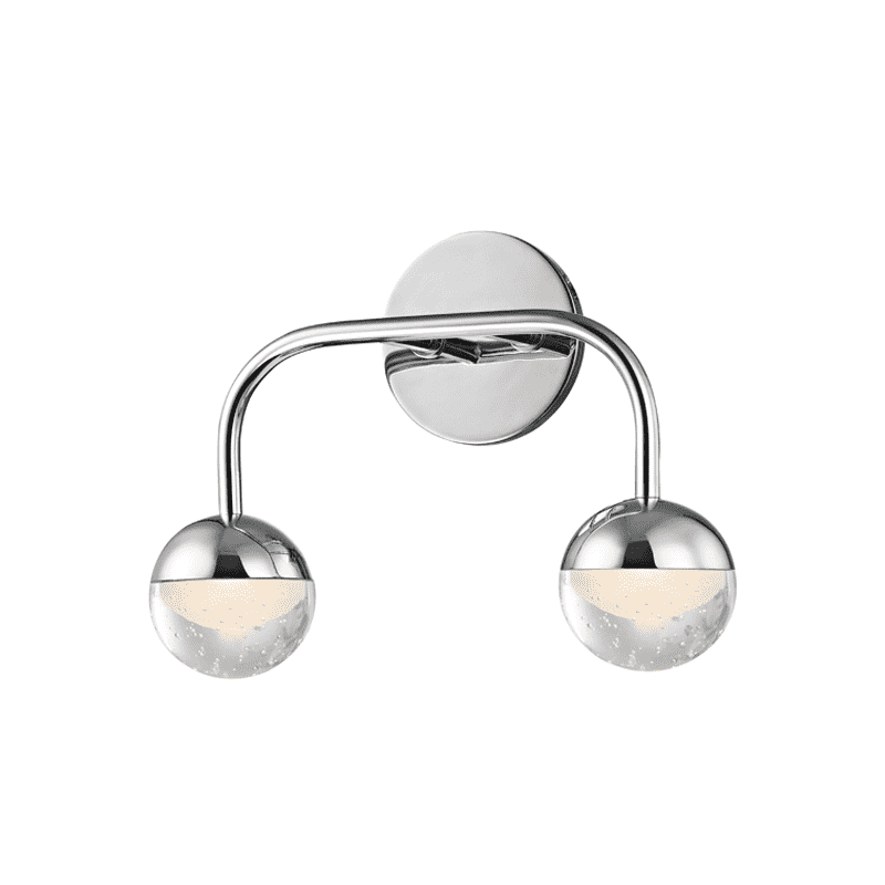 Boca 2 Light Led Bath Bracket Polished Chrome