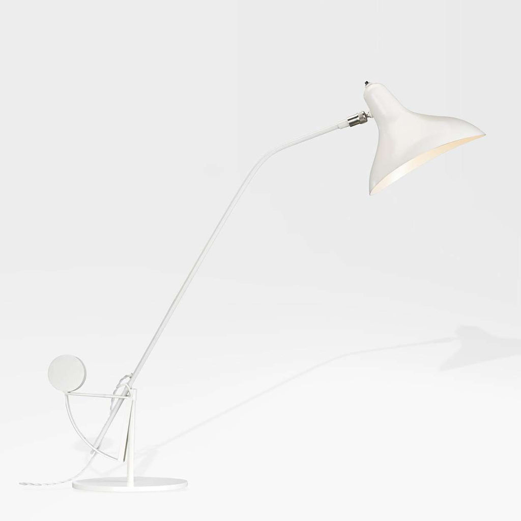 Mantis BS1 Table Lamp - White with Round Base