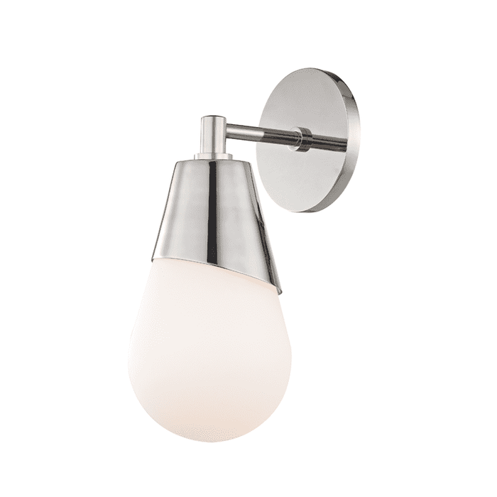 Cora 1 Light Wall Sconce - Polished Nickel