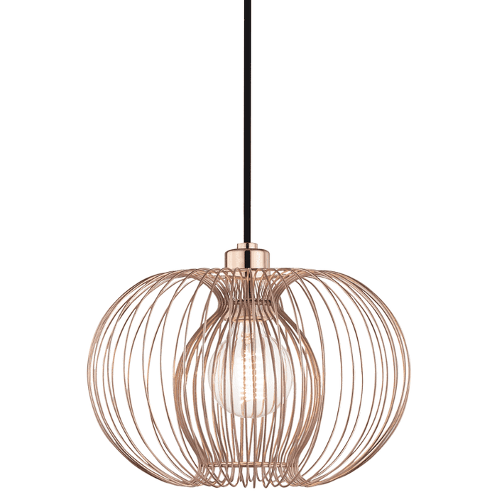 Jasmine 1 Light Small Pendant - Polished Copper