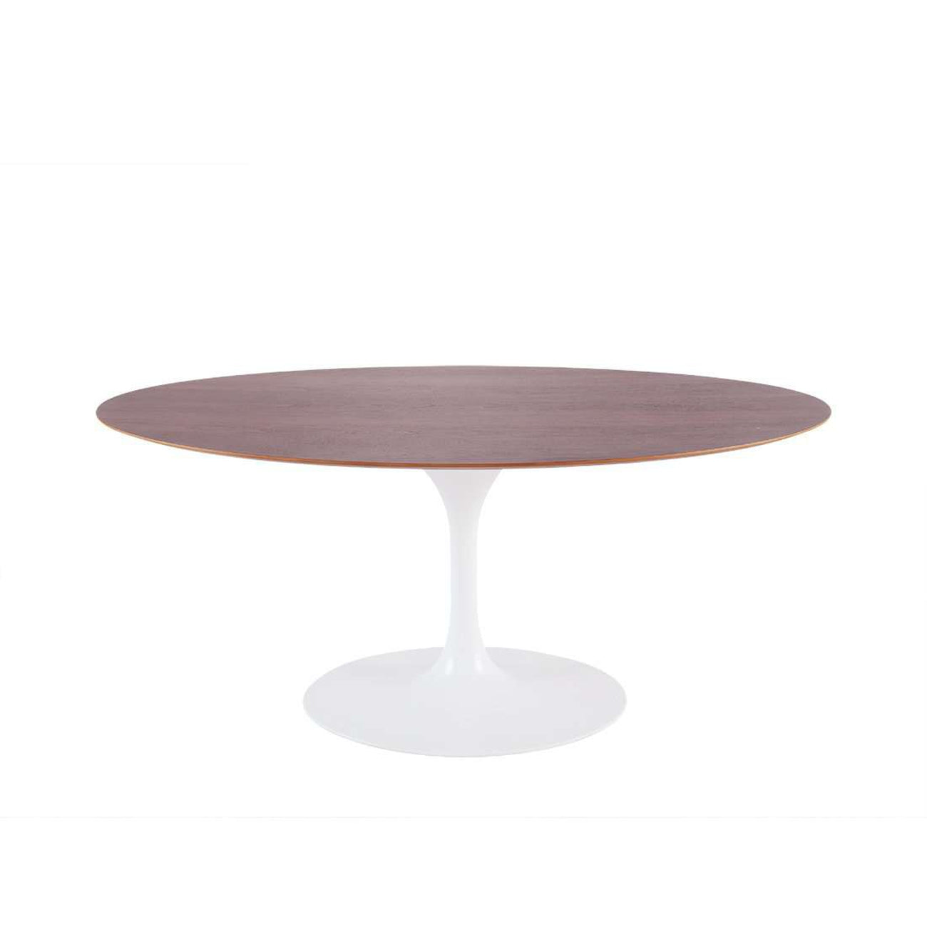 Tulip Dining Table Oval Walnut White France Son - Walnut tulip dining table