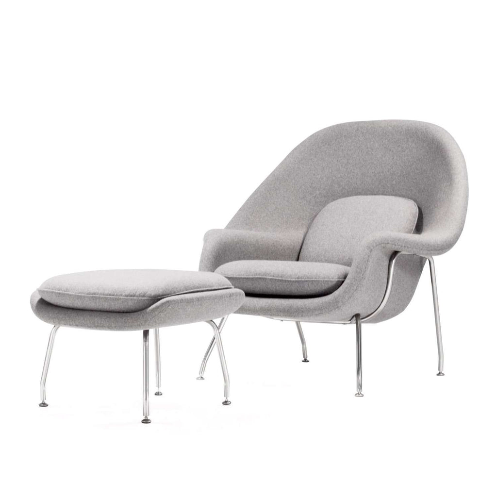Good Womb Chair And Ottoman   Grey