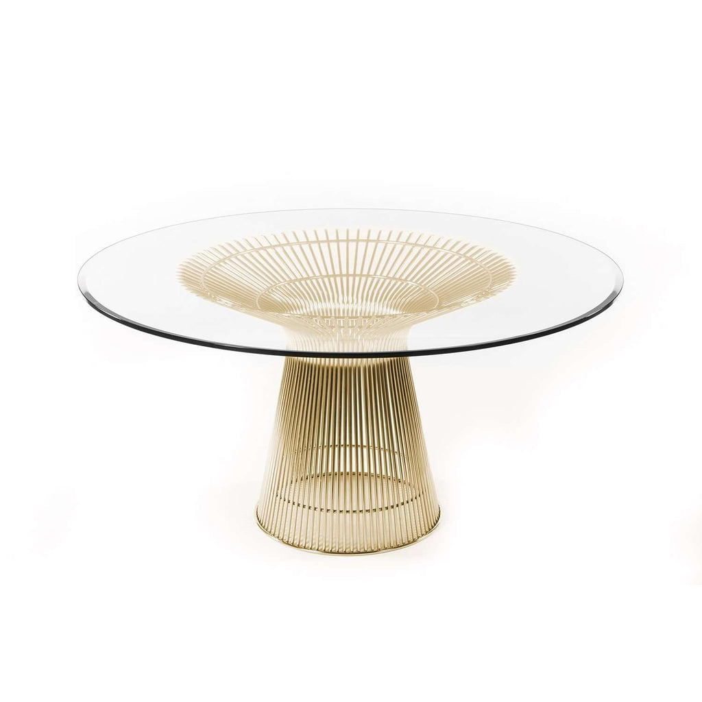 Mid Century Platner Dining Table - Gold - 60""