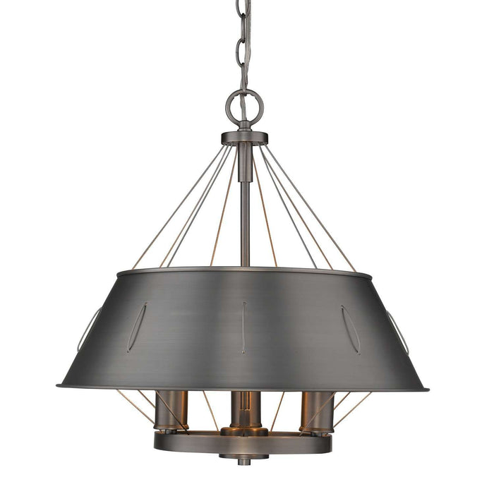 Whitaker 3 Light Pendant Aged Steel