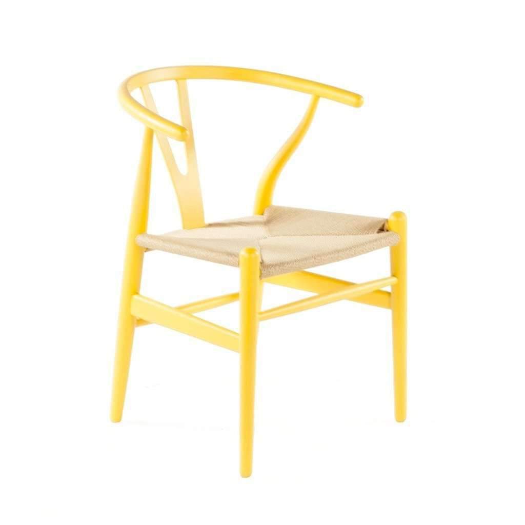 Mid-Century Modern Reproduction CH24 Wishbone Y Chair - Yellow Inspired by Hans Wegner