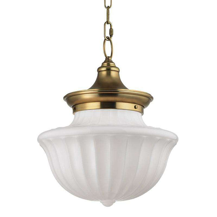 Dutchess 2 Light Large Pendant Aged Brass