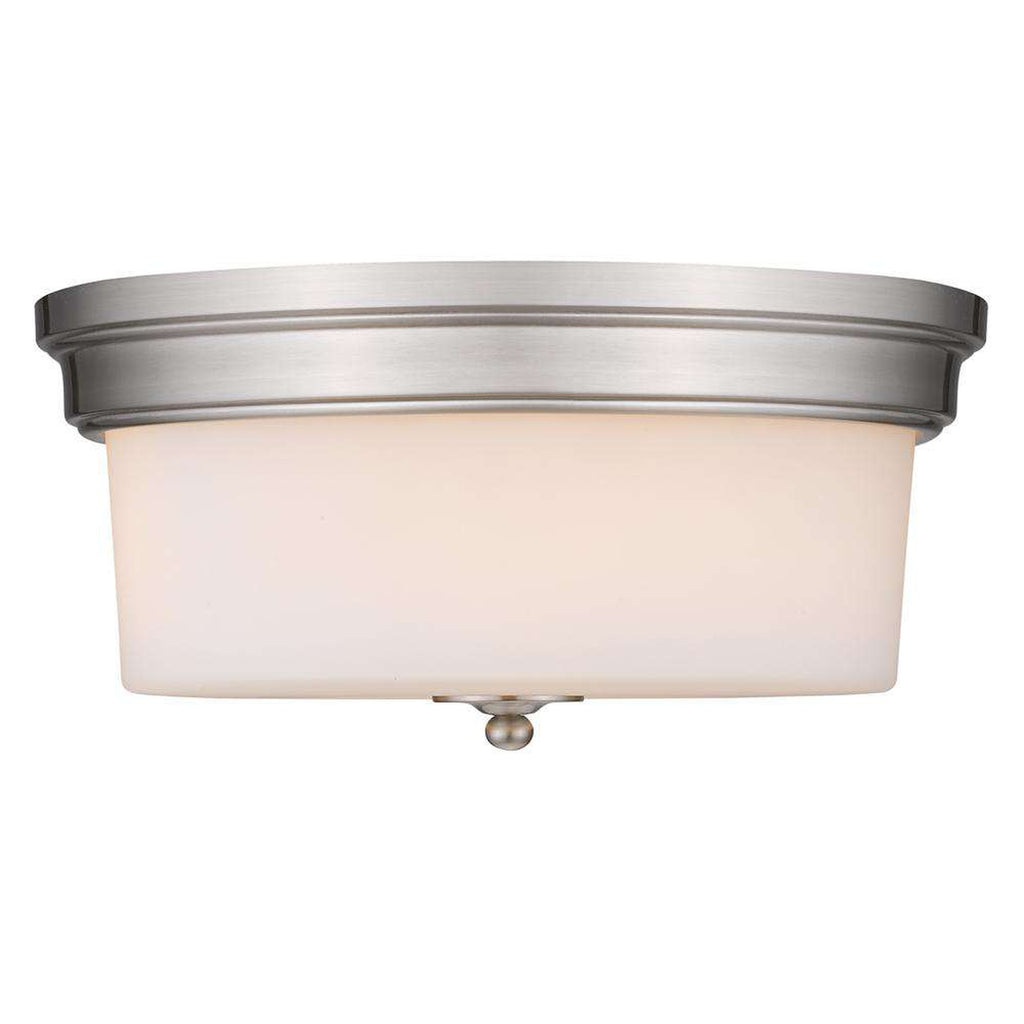 Multi-Family Flush Mount in Pewter with Opal Glass