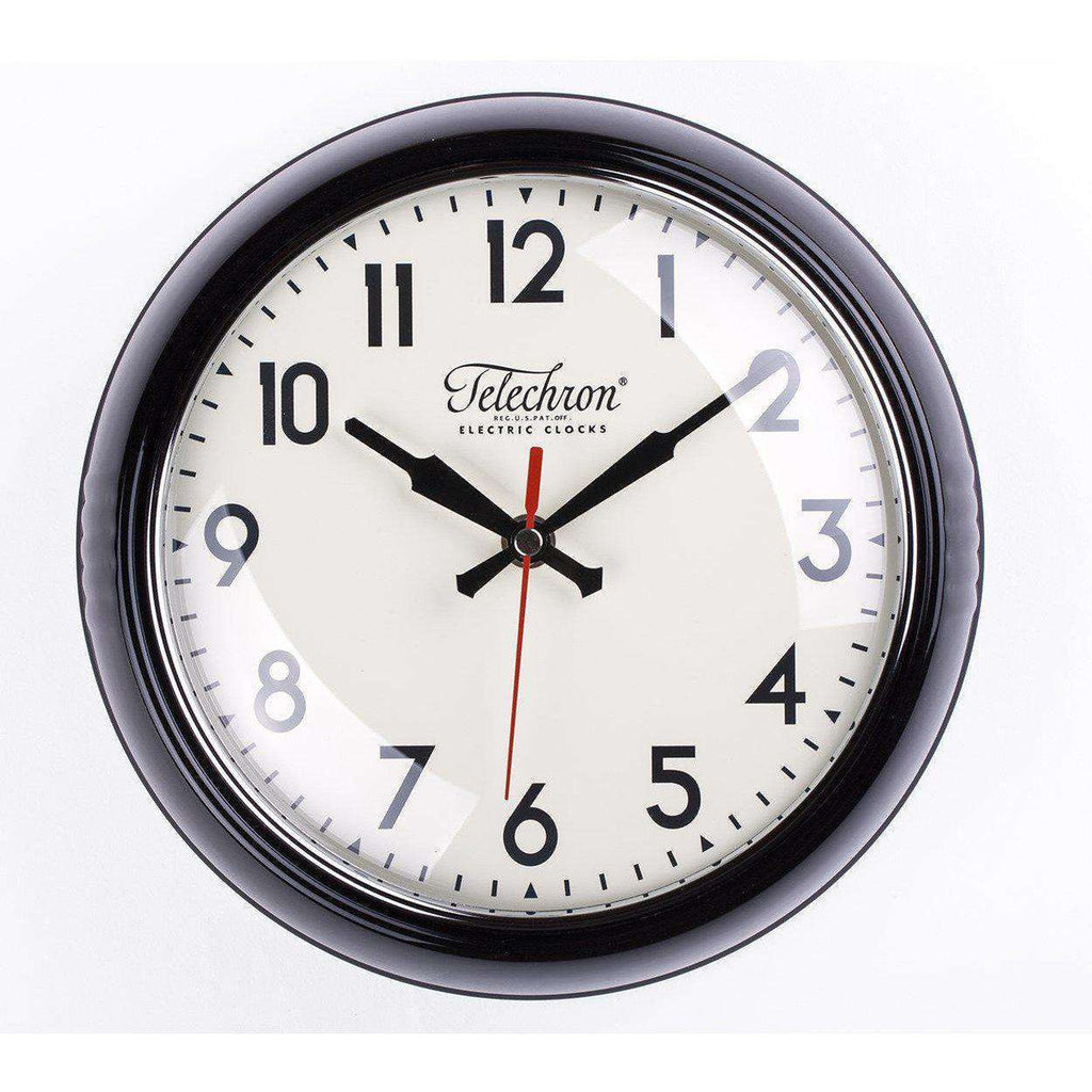 Mid Century Modern Cambridge Wall Clock - Black