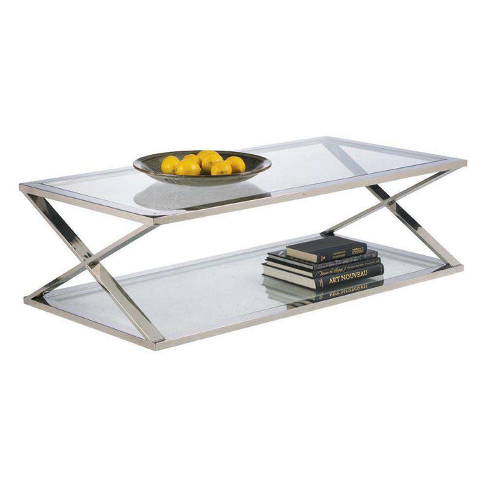 Gotham Coffee Table -  Stainless Steel