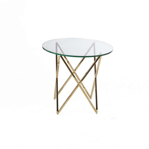 Mid-Century Modern Galvin Side Table - Gold