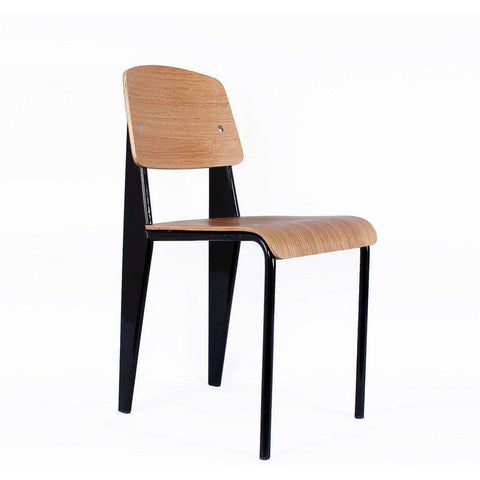 Mid-Century Modern Reproduction Standard Chair - Black Inspired by Jean Prouve