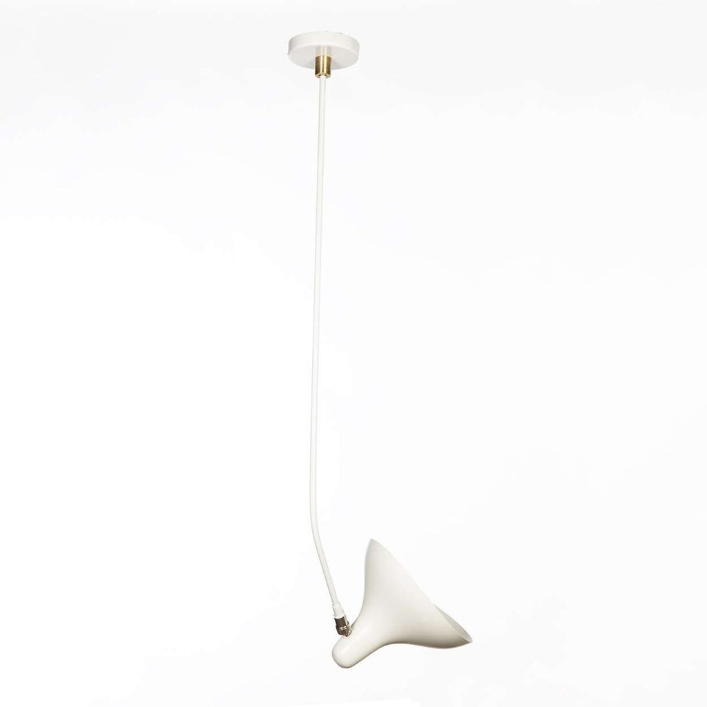 Mid-Century Modern Reproduction Mantis BS4 Ceiling Lamp - White Inspired by Bernard Schottlander