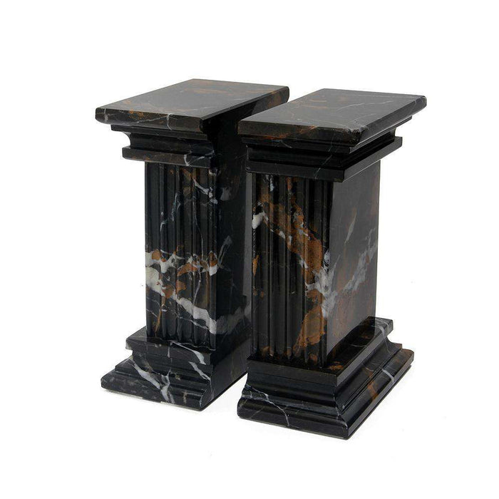 Renaissance Collection Black & Gold Marble Bookends