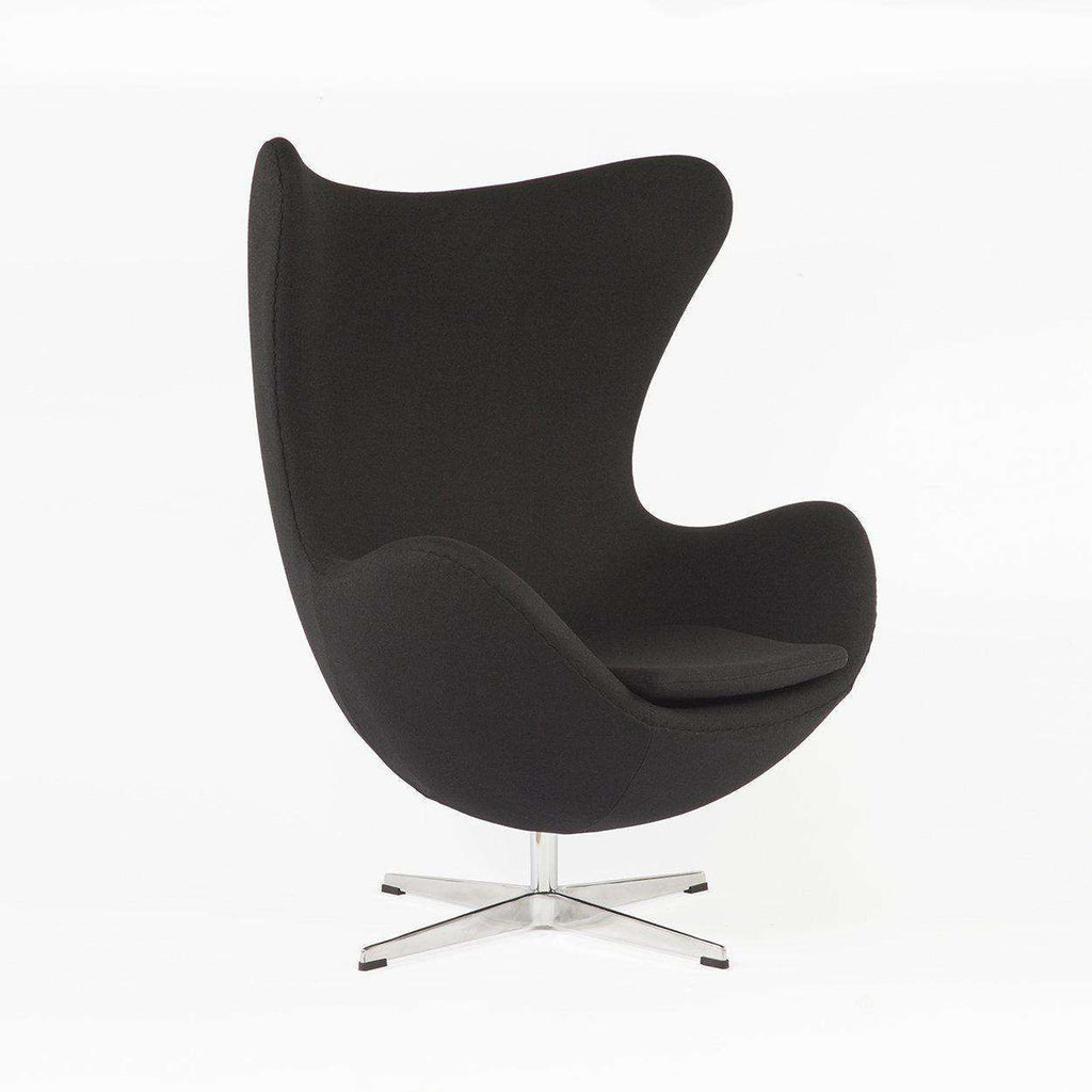 Mid-Century Modern Reproduction Egg Chair - Black Inspired by Arne Jacobsen