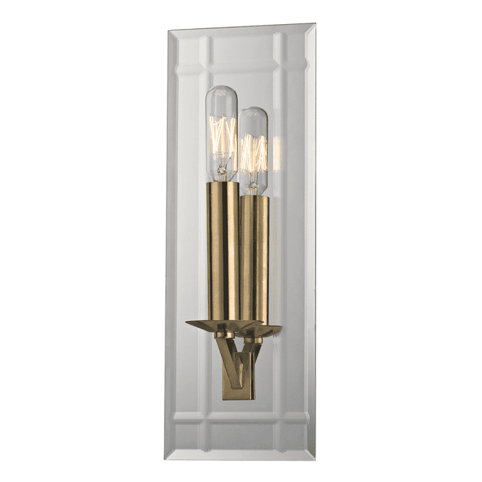 Austin 1 Light Wall Sconce Aged Brass