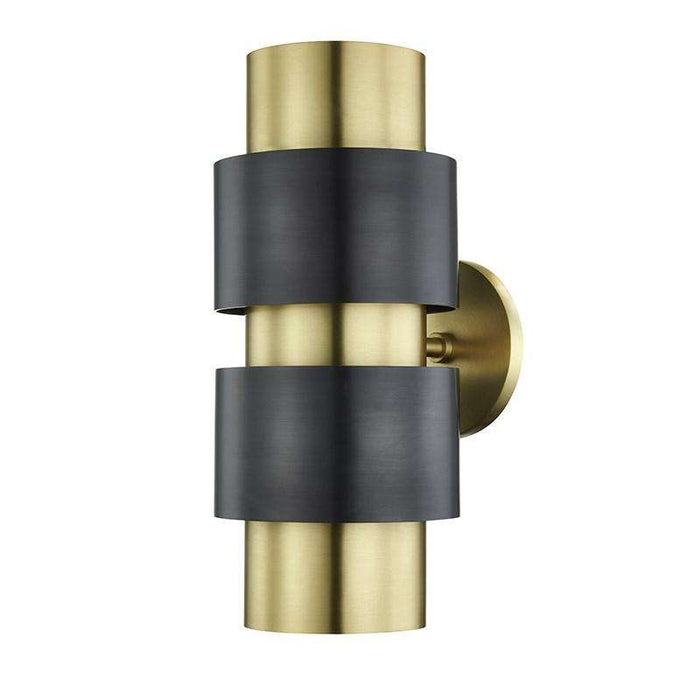 Cyrus 2 Light Wall Sconce Aged Old Bronze