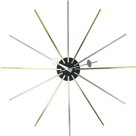 Mid-Century Modern Reproduction Star Clock Inspired by George Nelson