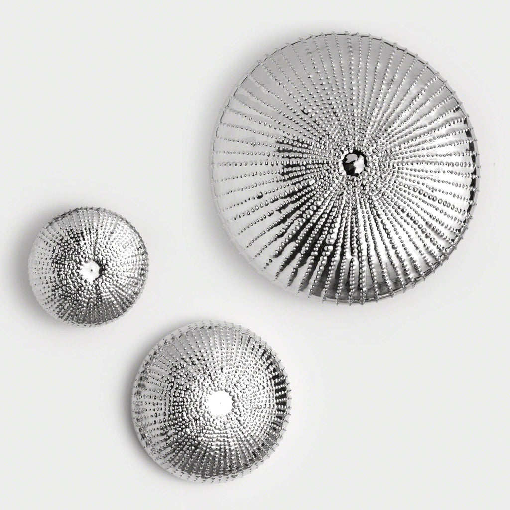 Sea Urchin Wall Sculpture - Nickel - Large