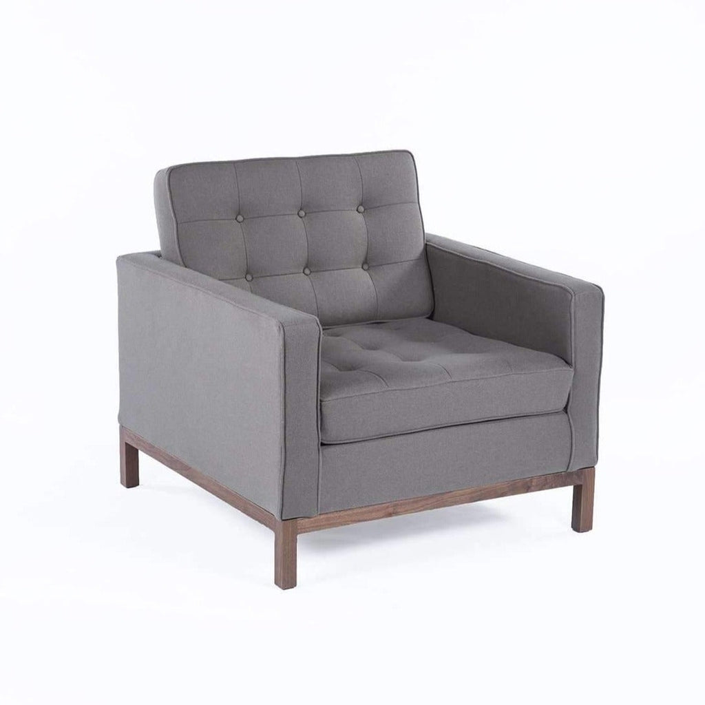 Mid-Century Modern Dara Lounge Chair - Grey