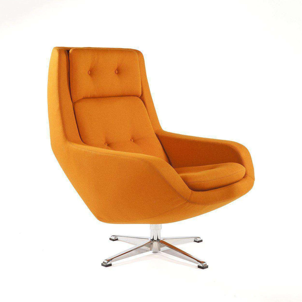 Mid-Century Modern Konni Lounge Chair - Orange