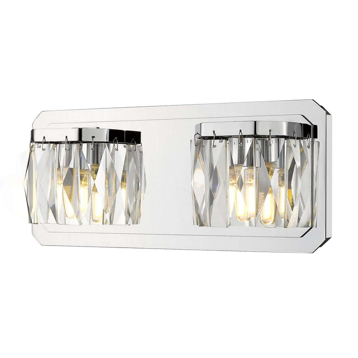Krysta 2 Light Bath Vanity (LED) Chrome