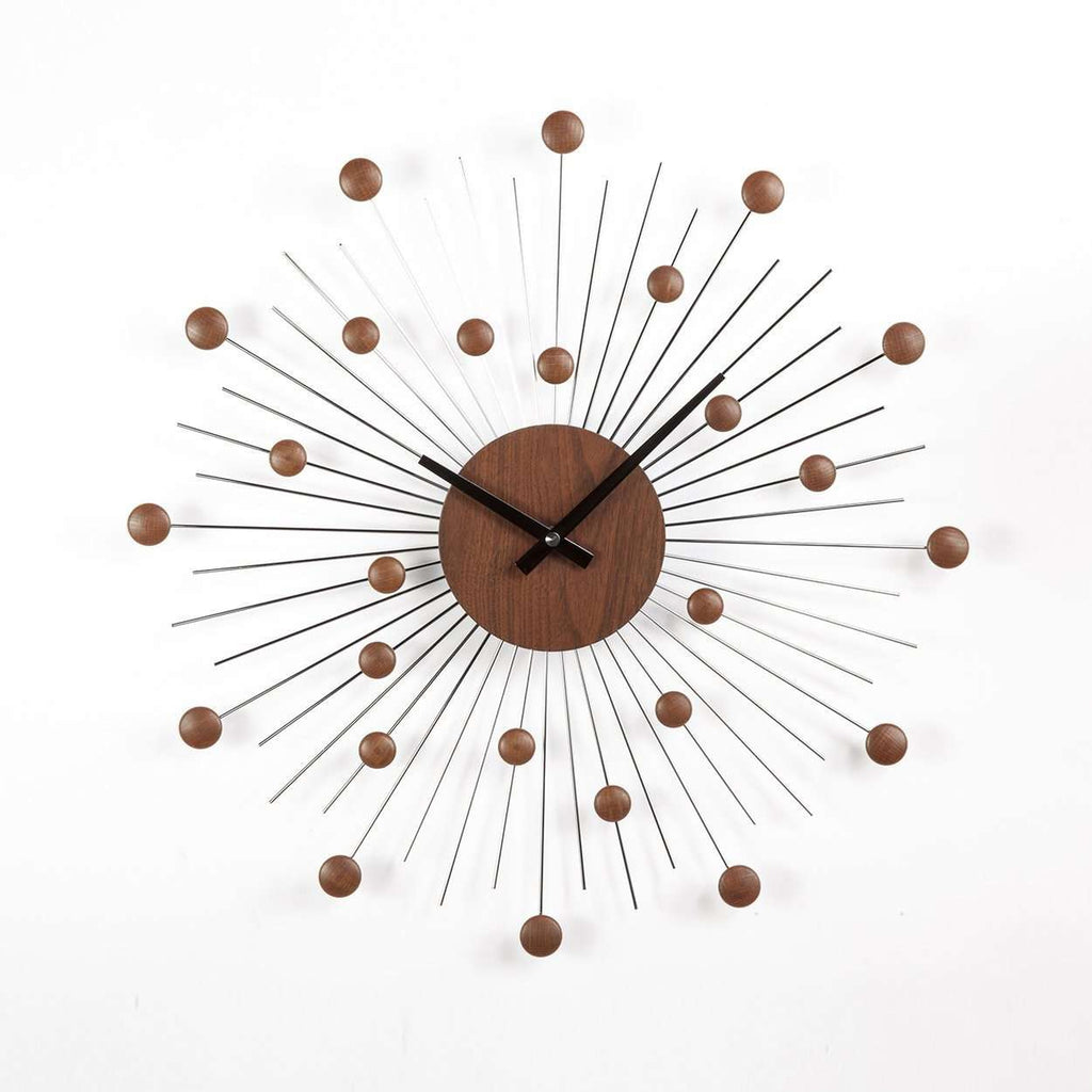 Mid-Century Modern Aren Clock - Walnut