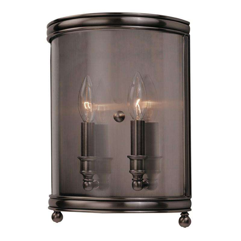 Larchmont 2 Light Wall Sconce Historic Nickel