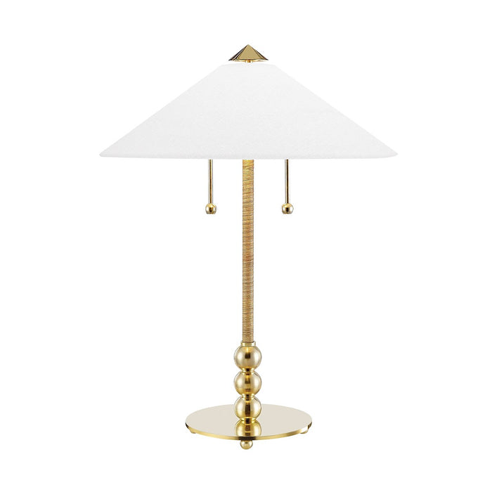 Flare Aged Brass Table Lamp