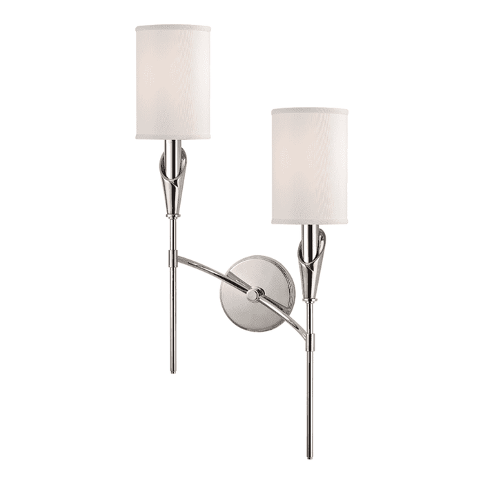 Tate 2 Light Right Wall Sconce Polished Nickel