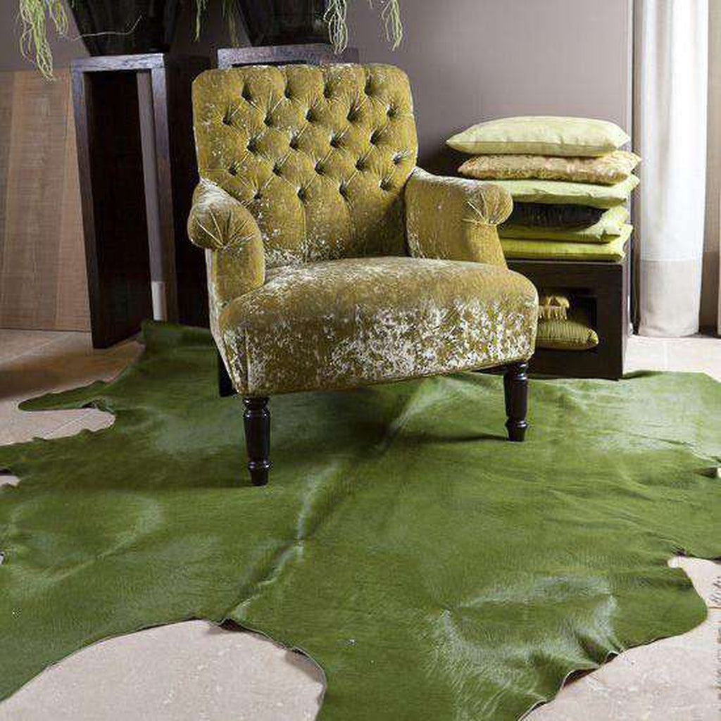 Green Dyed Cowhide