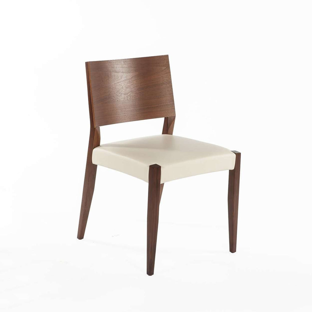 Modern Boid Dining Side Chair - White Leather