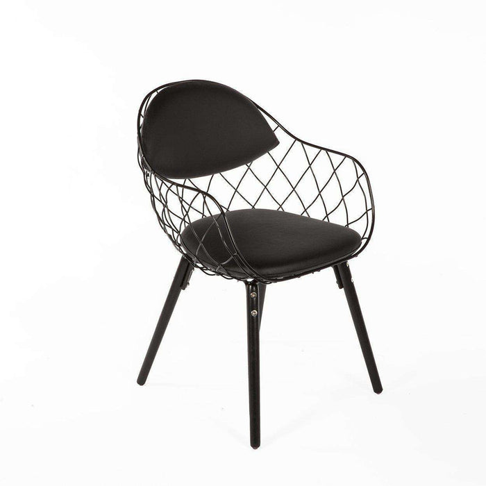 Mid-Century Modern Reproduction Pina Armchair - All Black Inspired by Jaime Hayon