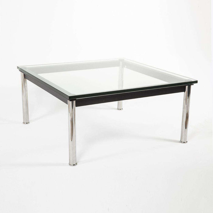 Mid-Century Modern Reproduction LC10 Square Low Coffee Table - 27.5 Inspired by Le Corbusier