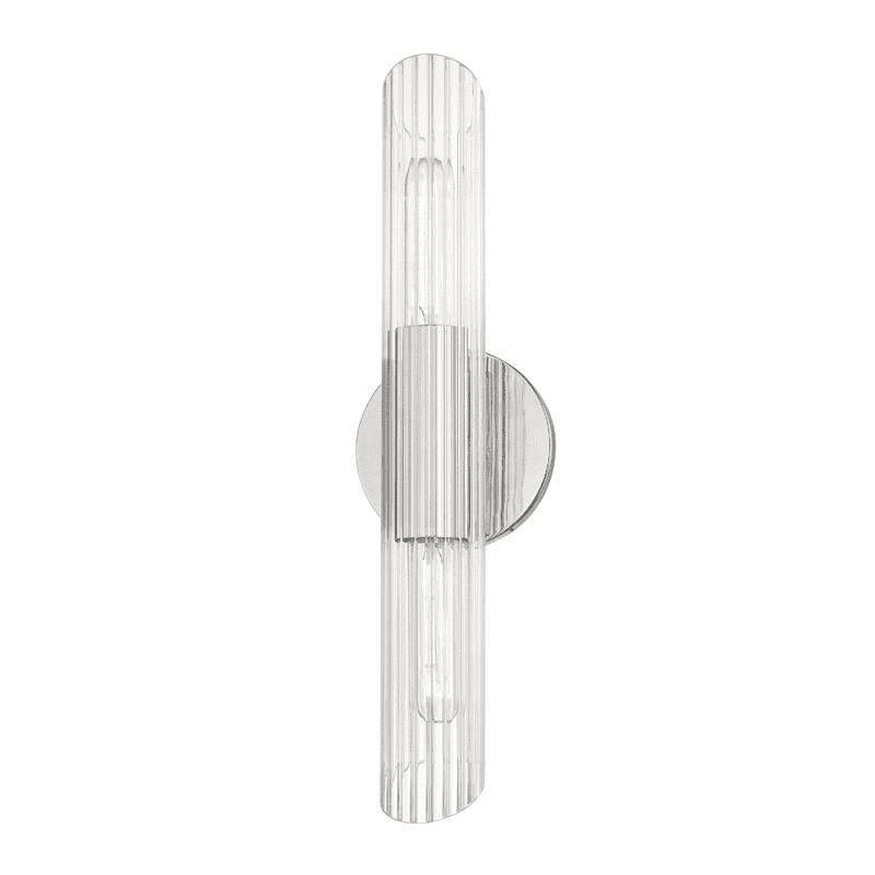 Cecily 2 Light Small Wall Sconce - Polished Nickel