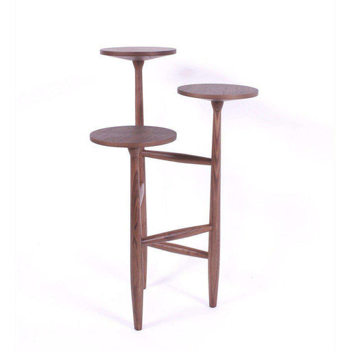 Mid-Century Modern Sean Dix Tripod and Pedestal Side Table: 21.5''-29.5''