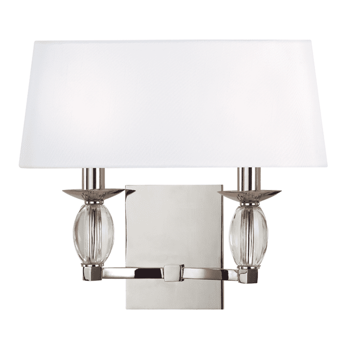 Cameron 2 Light Wall Sconce Polished Nickel