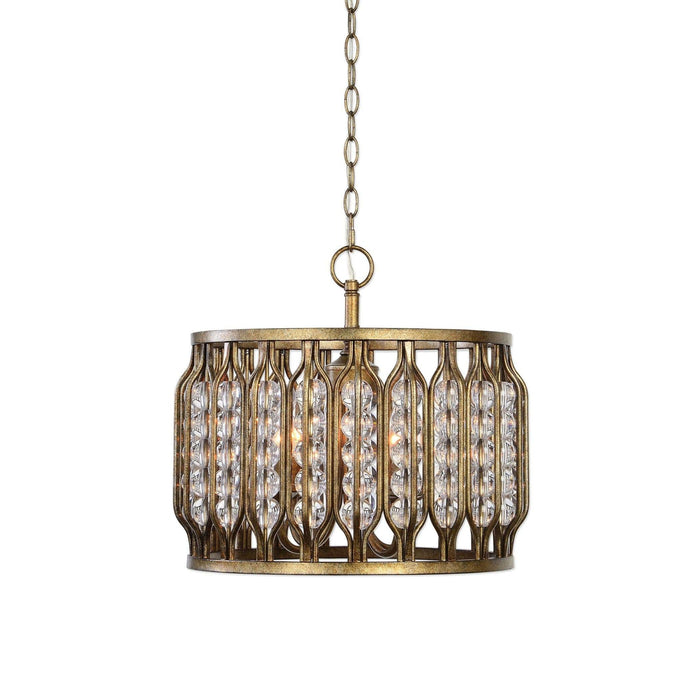 Jensen 4 Light Swedish Iron Pendant