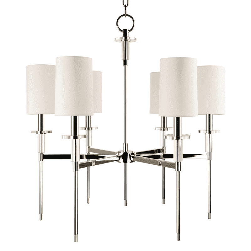 Amherst 6 Light Chandelier Polished Nickel