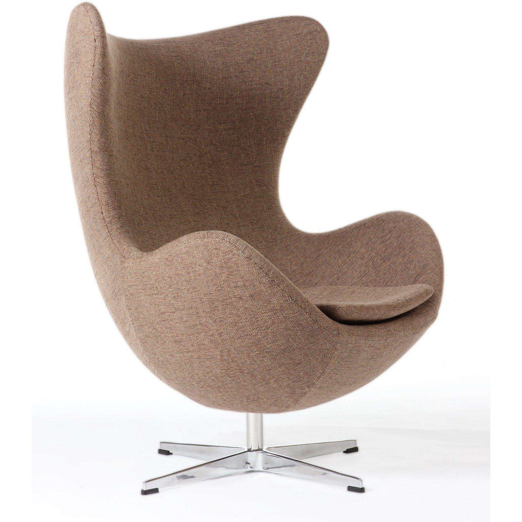 Mid Century Modern Reproduction Egg Chair   Brown Inspired By Arne Jacobsen