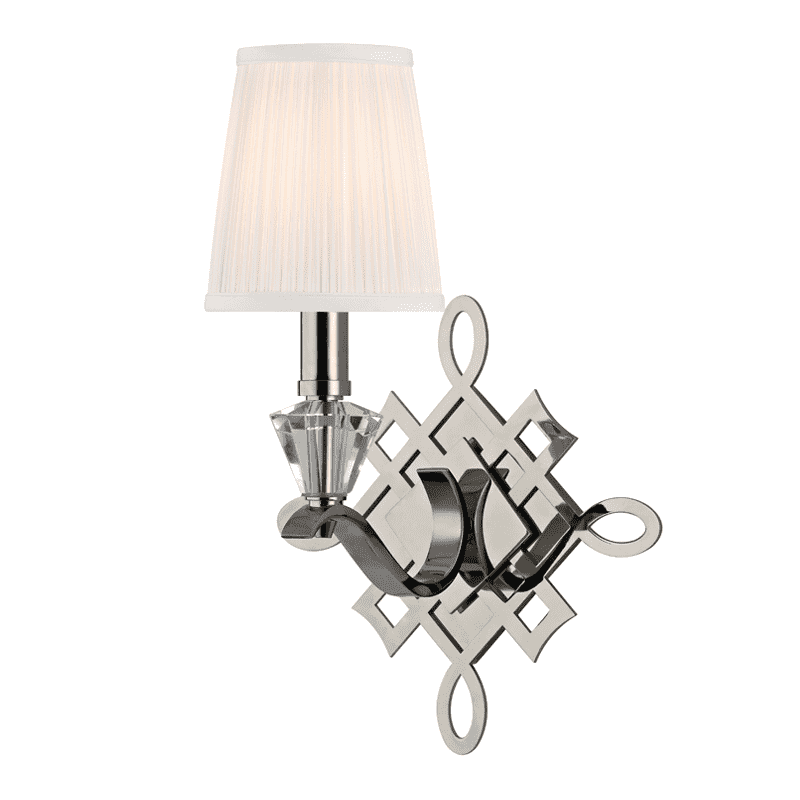 Fowler 1 Light Wall Sconce Polished Nickel