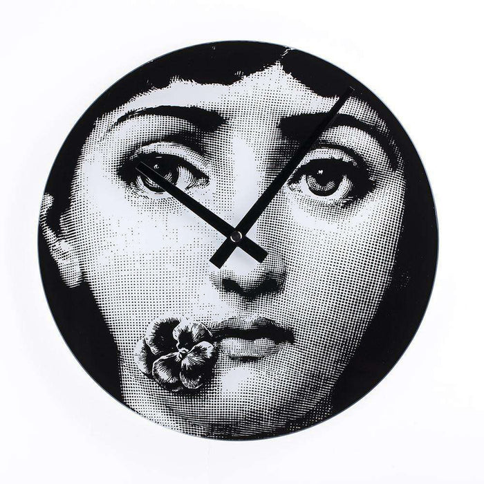 Mid-Century Modern Reproduction Girl Clock - Barcelona Inspired by Piero Fornasetti